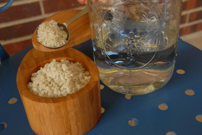 salt mason jar