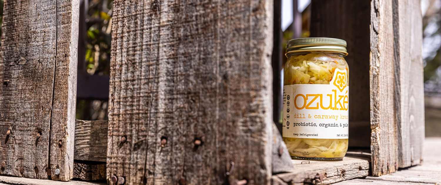 dill & caraway kraut product photo in crate