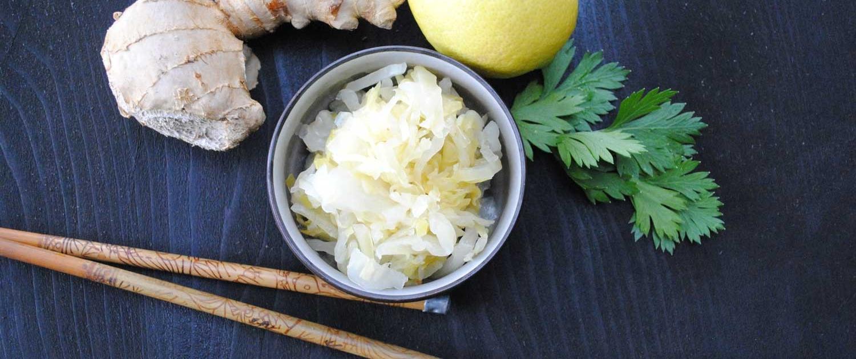 citrus & ginger ingredients