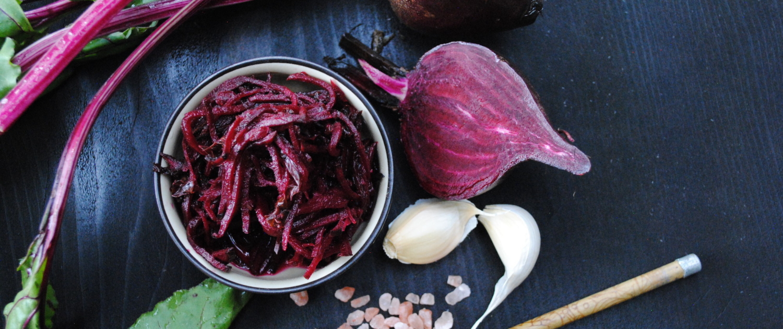 beets, dulse & kale raw ingredients
